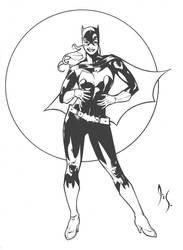 Batgirl Pin-Up by DrewEdwardJohnson