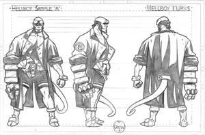 Hellboy turns by DrewEdwardJohnson