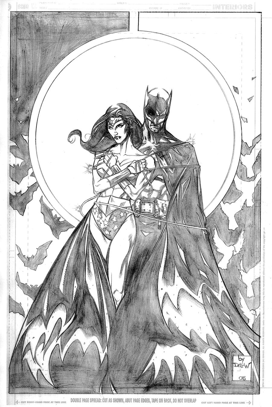 Coloring pages wonder woman - Batman_and_wonder_woman_by_drewjohnson