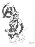 Ms Marvel Con sketch by DrewEdwardJohnson