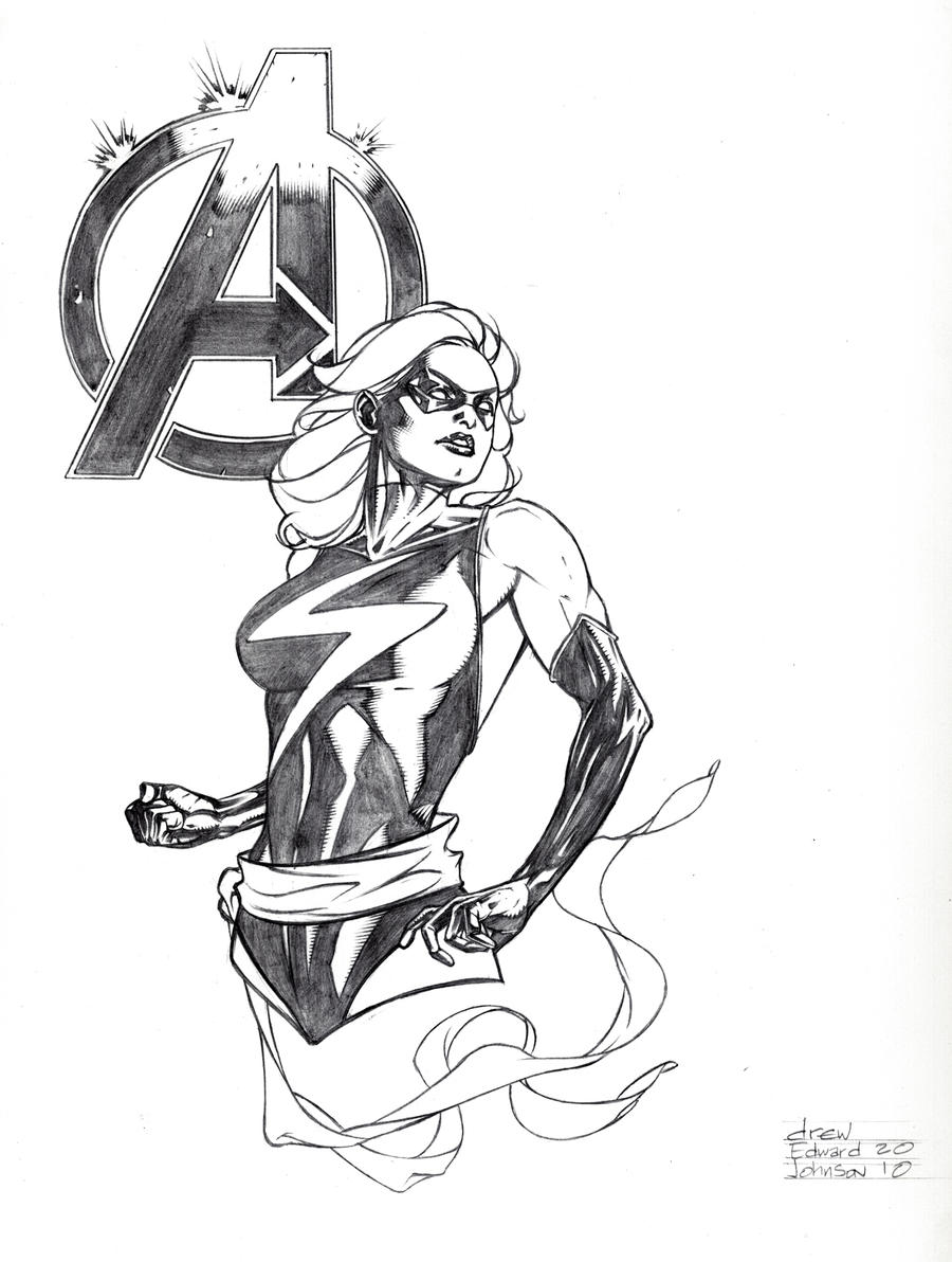 Ms Marvel Con Sketch By DrewEdwardJohnson On DeviantArt