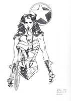 Wonder Woman Con Sketch by DrewEdwardJohnson