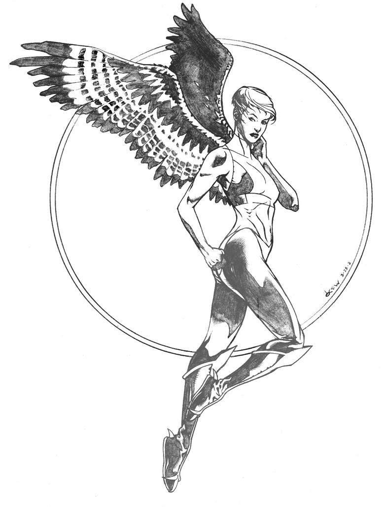 Kendra Saunders Hawkgirl sktch by DrewEdwardJohnson