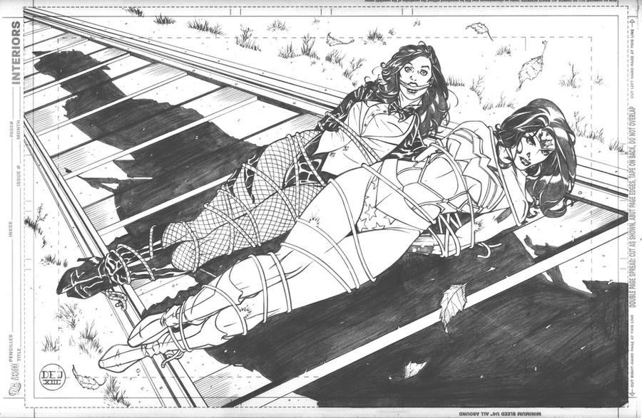 Wonder Woman and Zatanna Bound Commission