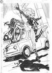 Huntress and Black Canary Commission Pencils