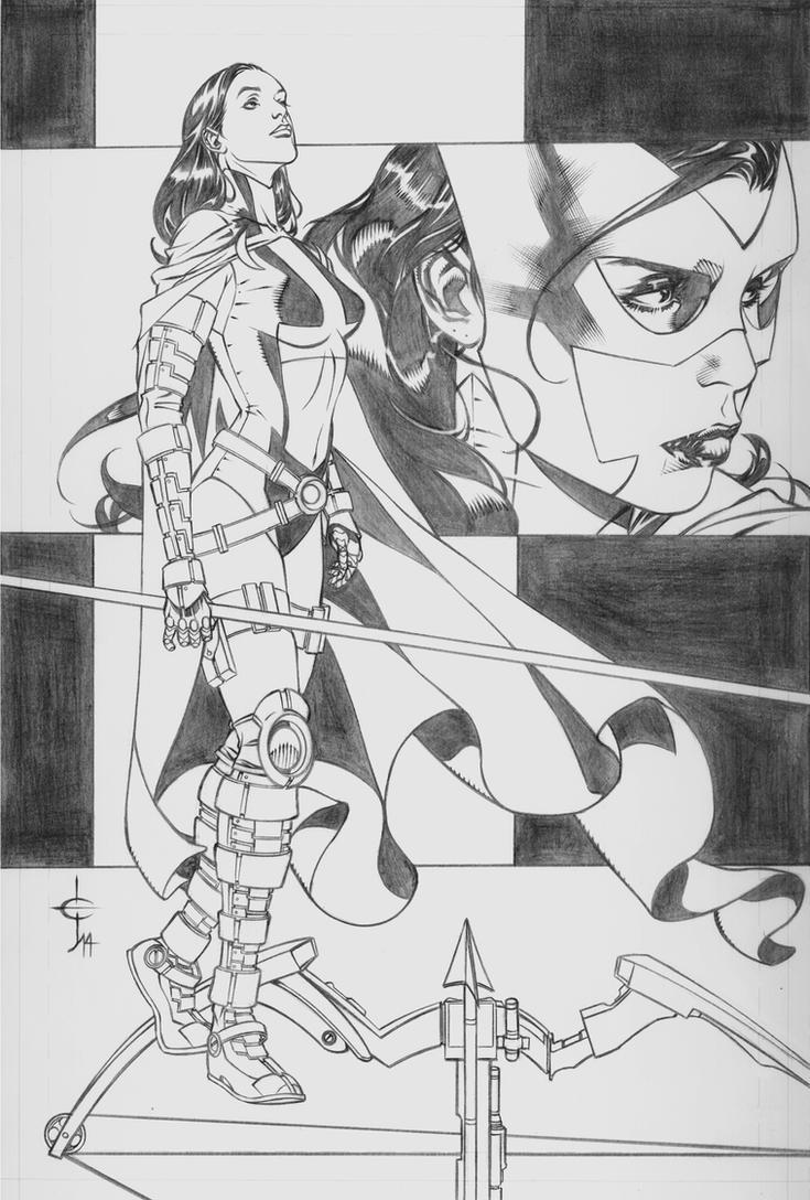 Huntress, Unmasked by DrewEdwardJohnson