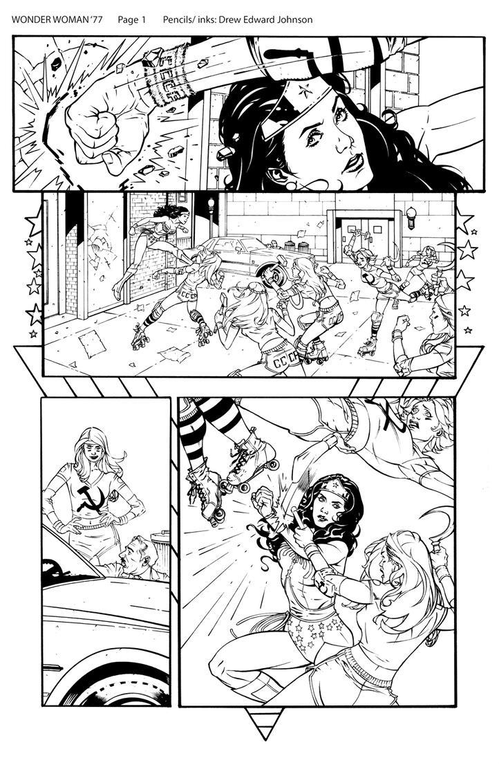 Wonder Woman '77 #1 Page 1 by DrewEdwardJohnson