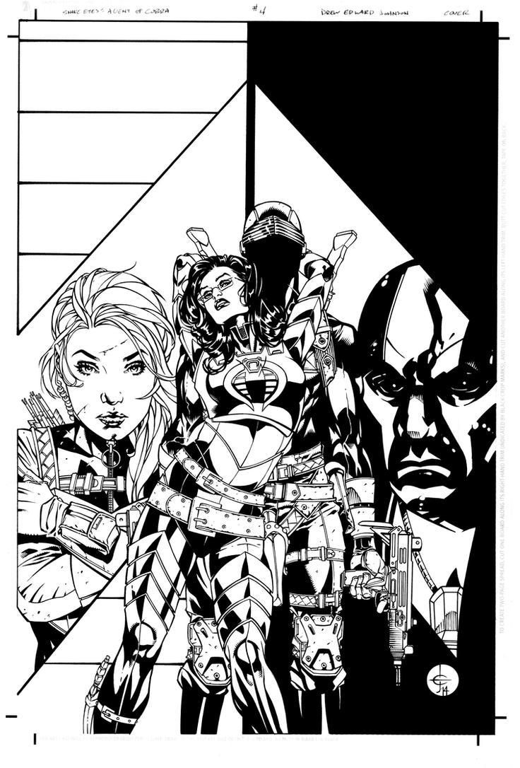 Snake Eyes: Agent of COBRA #4 Variant Cover by DrewEdwardJohnson