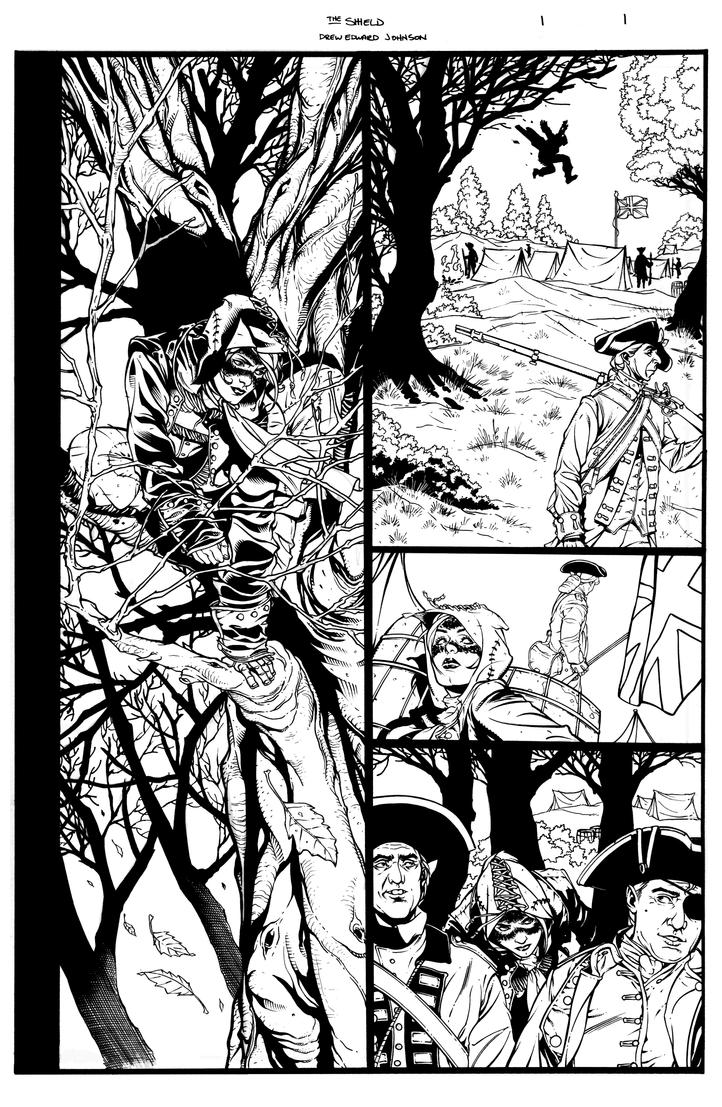 The SHIELD Issue 1 Page 1 by DrewEdwardJohnson