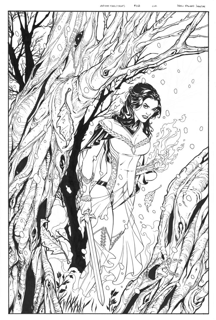 grimm fairy tale coloring pages - photo#32