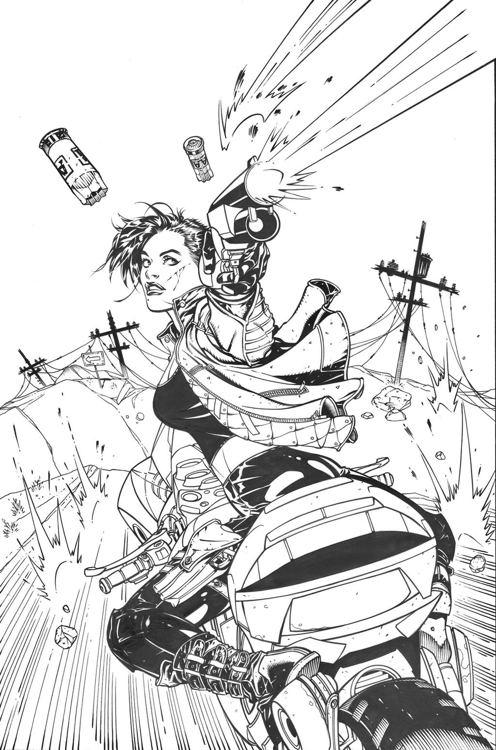 THE COURIER #4 Cover by DrewEdwardJohnson