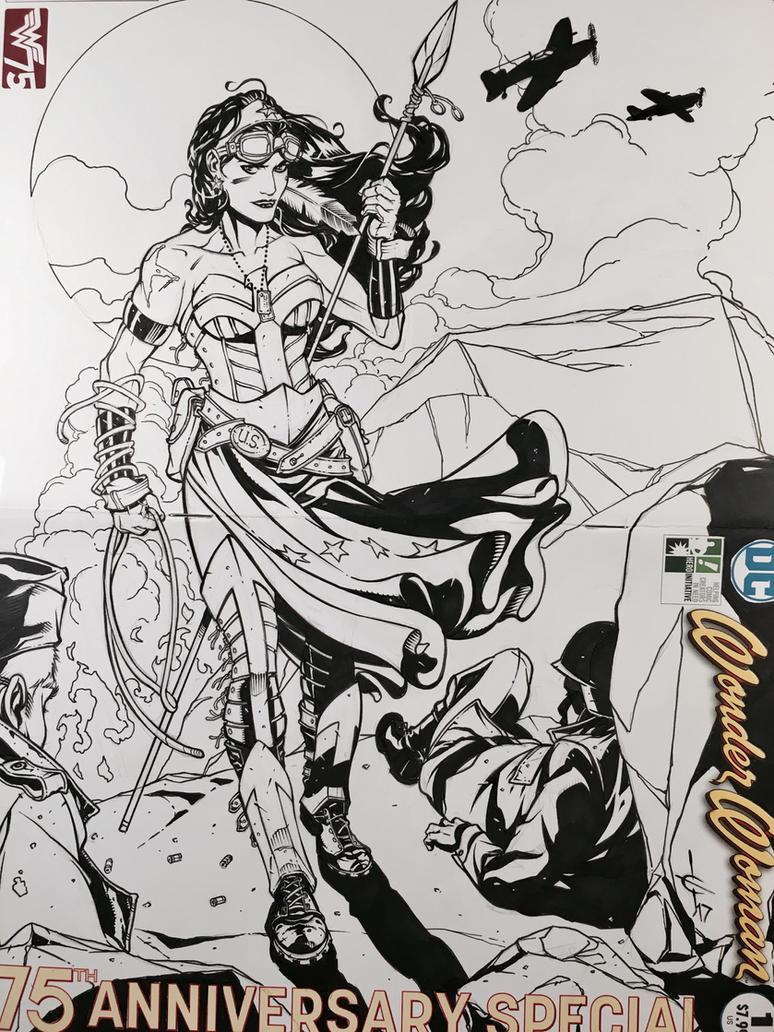 Hero Initiative 100 Wonder Woman Sketch Cover by DrewEdwardJohnson