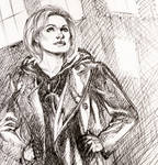The 13th Doctor Ballpoint Pen Sketch