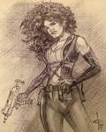 Deadpool 2 Domino Ballpoint Sketch