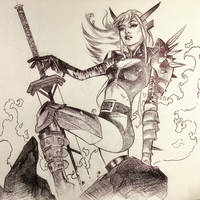 Magik Ballpoint Pen Drawing  by DrewEdwardJohnson