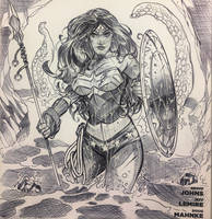 Wonder Woman Sketch Cover by DrewEdwardJohnson