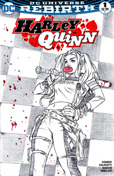 Harley Quinn Sketch Cover by DrewEdwardJohnson