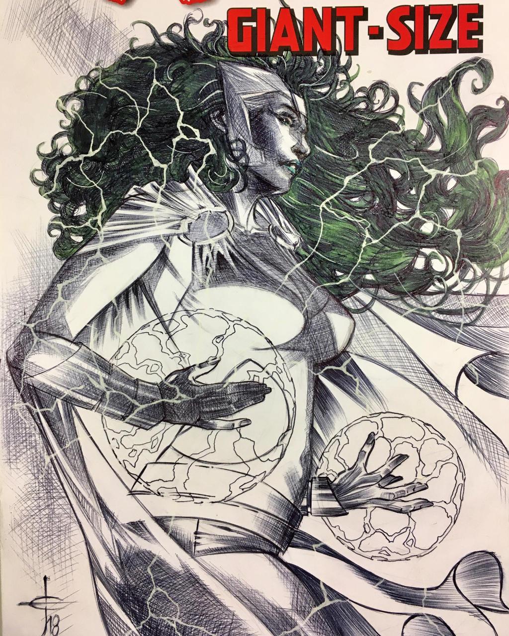 Polaris Sketch Cover Illustration  by DrewEdwardJohnson