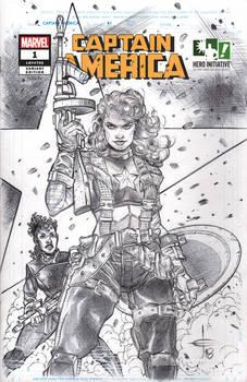 Hero Initiative 100 CAPTAIN AMERICA Sketch Cover