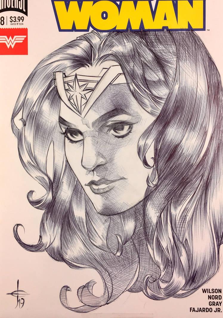 Wonder Woman Sketch Cover 5/14 by DrewEdwardJohnson
