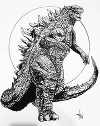 Godzilla Nerdist Contest Illustration