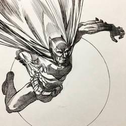 Batman Ballpoint Pen Illustration