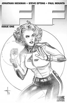 Invisible Woman Sketch Cover