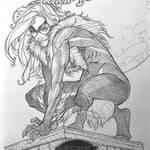 Black Cat Ballpoint Pen Sketch Cover