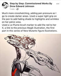 My new artistic process page on Facebook