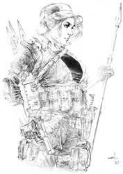 Lady Jaye Ballpoint Pen Illustration