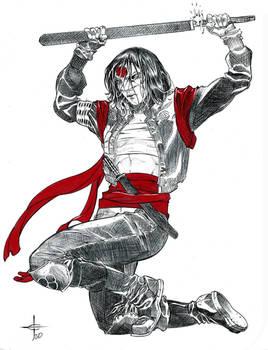 Katana Ballpoint Pen Illustration