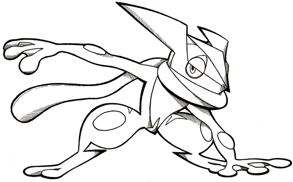 greninja pokemon coloring pages sketch ash deviantart froakie printable template draw mega getcolorings step print col pikachu hat collections getcoloringpages