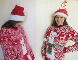 Llama Christmas Sweaters by llamalist
