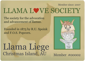 Llama Love Society Card