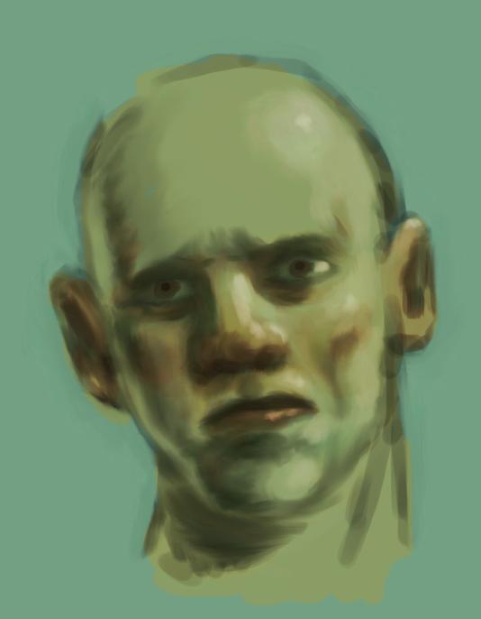 Sad face color sketch by facundoezequiel