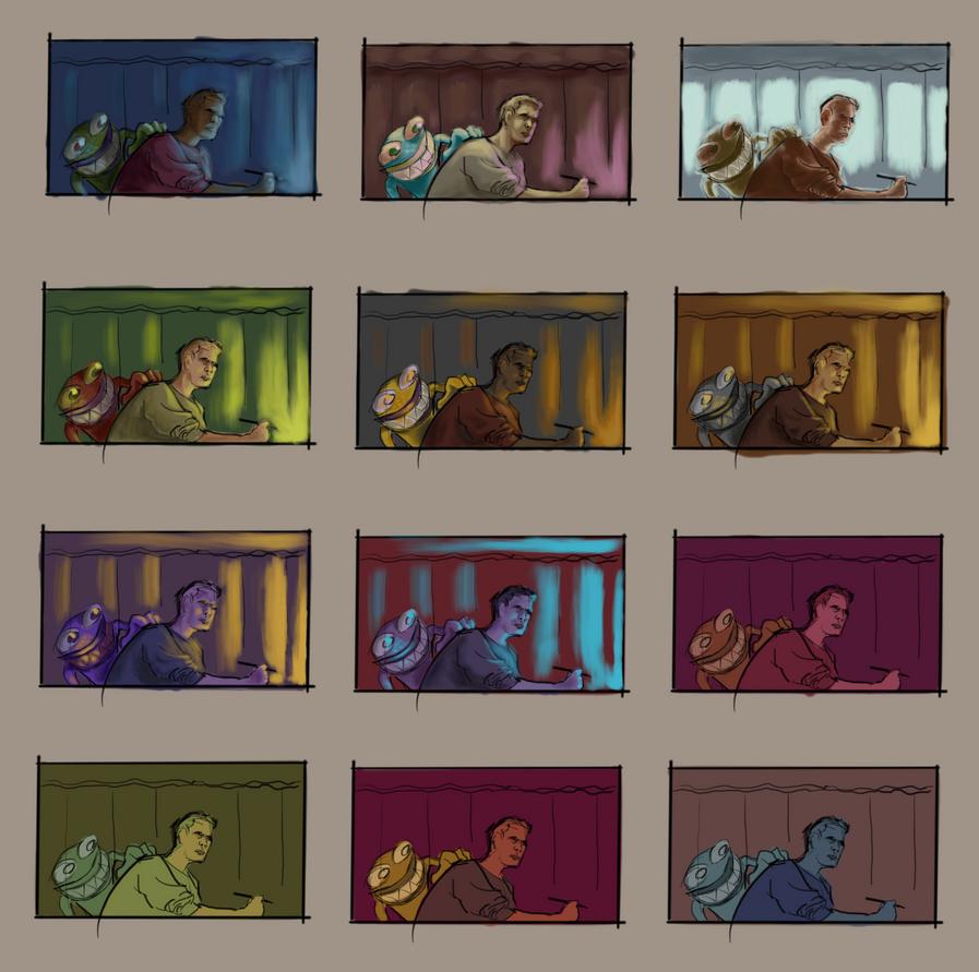 More color practice in progress (continued I) by facundoezequiel