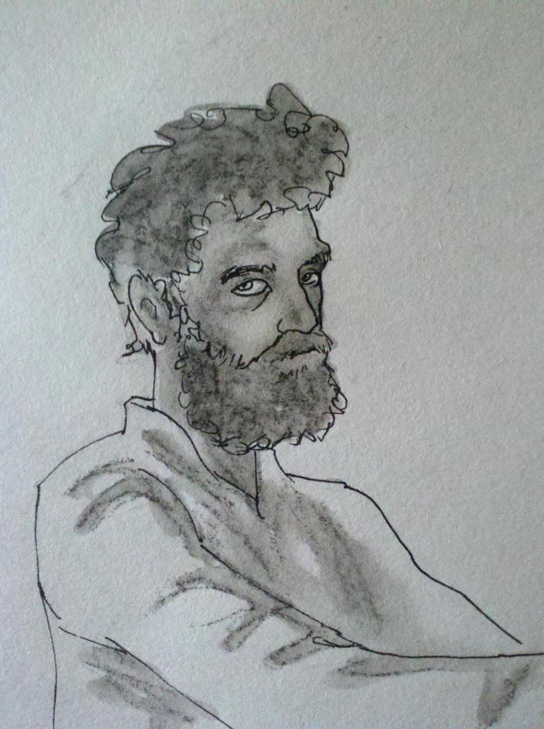 Self portrait detail by facundoezequiel