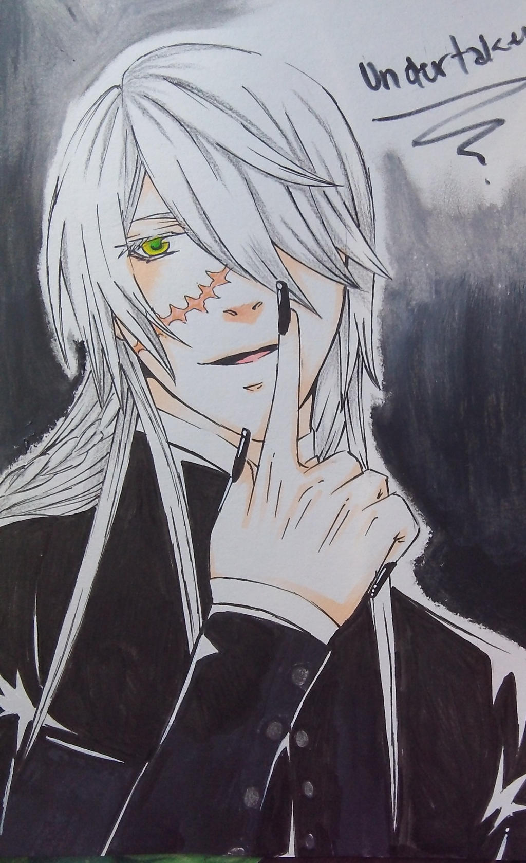 Kuroshitsuji Fanart Undertaker Eyes