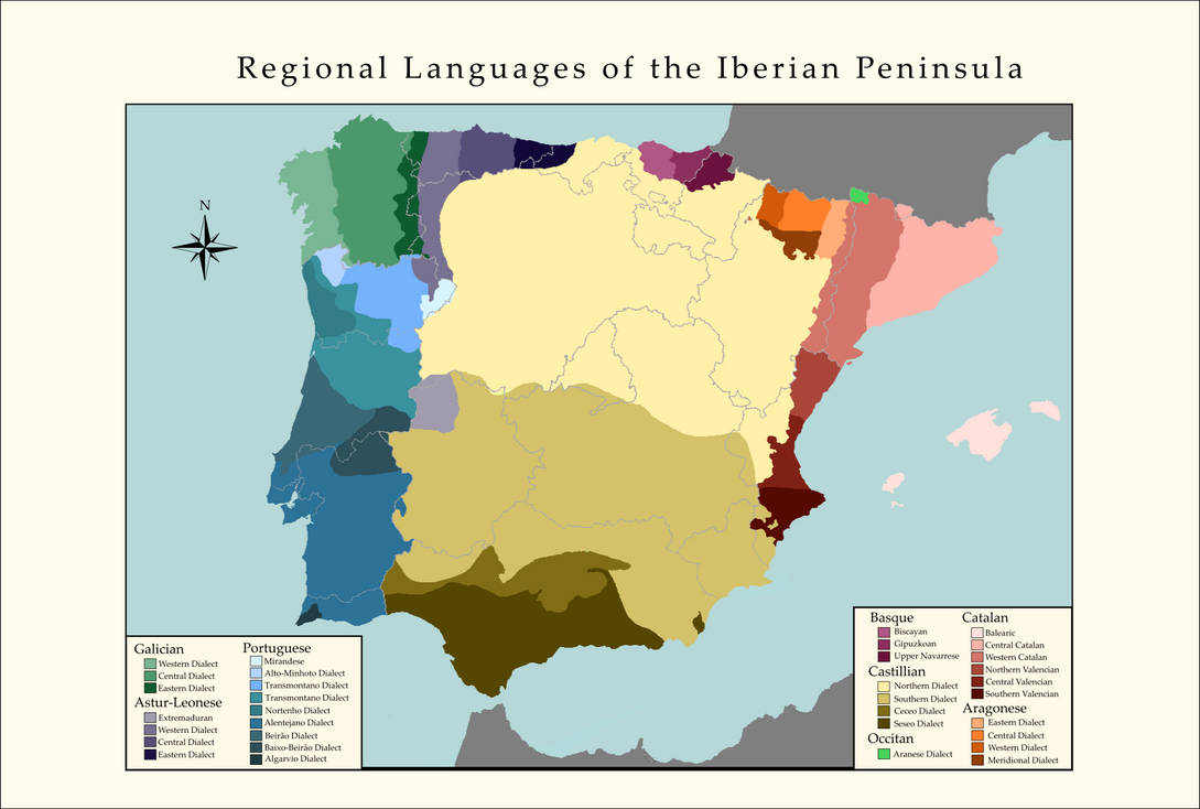 Regional Languages of the Iberian Peninsula by Robin-Maps on ...
