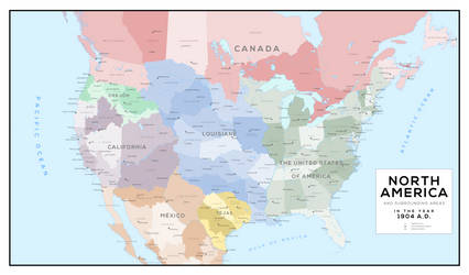 The Seven Great Nations of North America in 1904 A