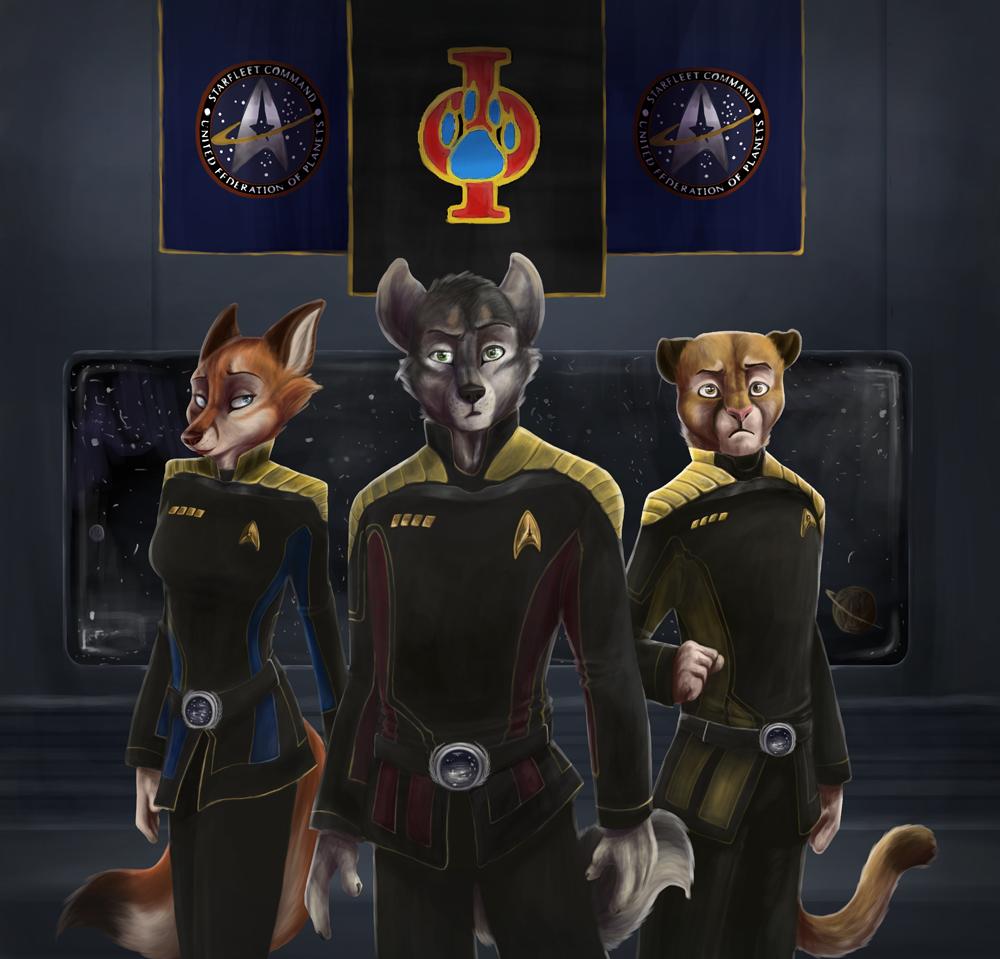 Le Furry Fleet by Tsebresos