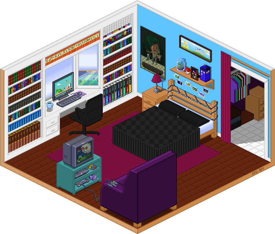 Isometric Bedroom By Roliet On DeviantArt