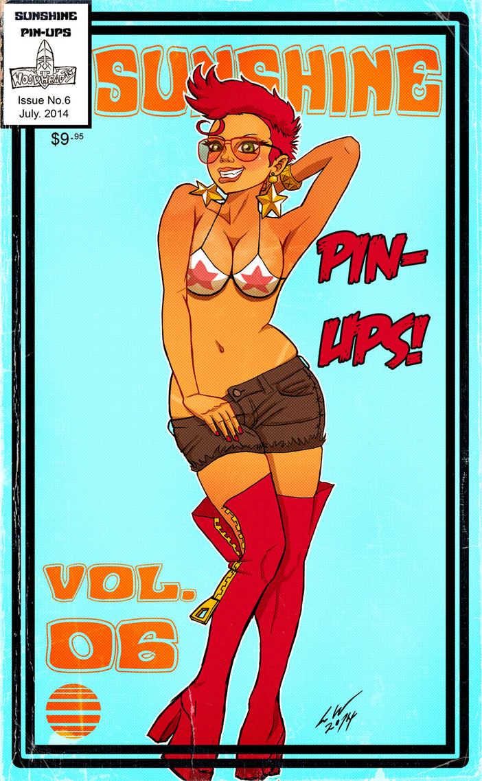 Sunshine Pin Ups July 2014 by woodlu