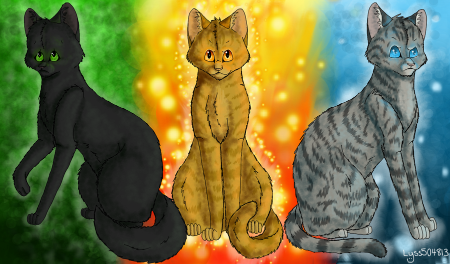Warriors the power of three new by lyss504813 on The three cats