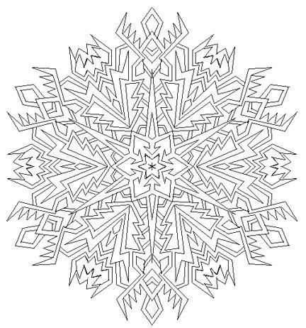 snowflake mandala by mandalamama on deviantart - Mandala Snowflakes Coloring Pages