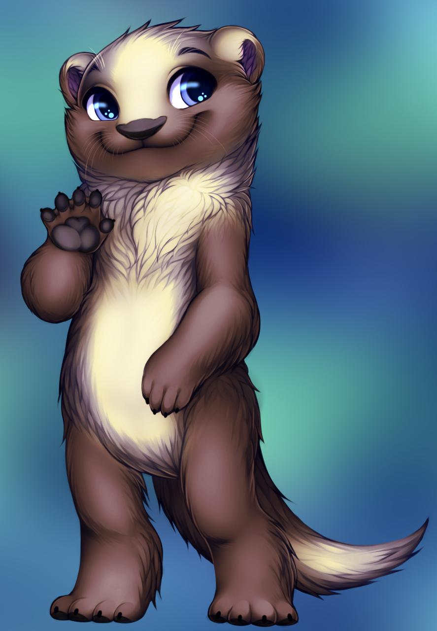 Otter by WibbleyWobbleys