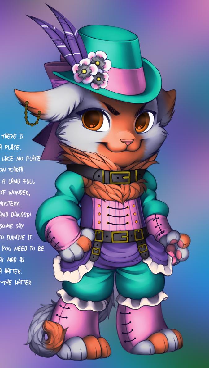 Hatter Cat by WibbleyWobbleys