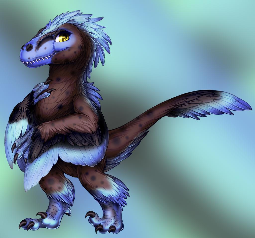 Velociraptor by WibbleyWobbleys