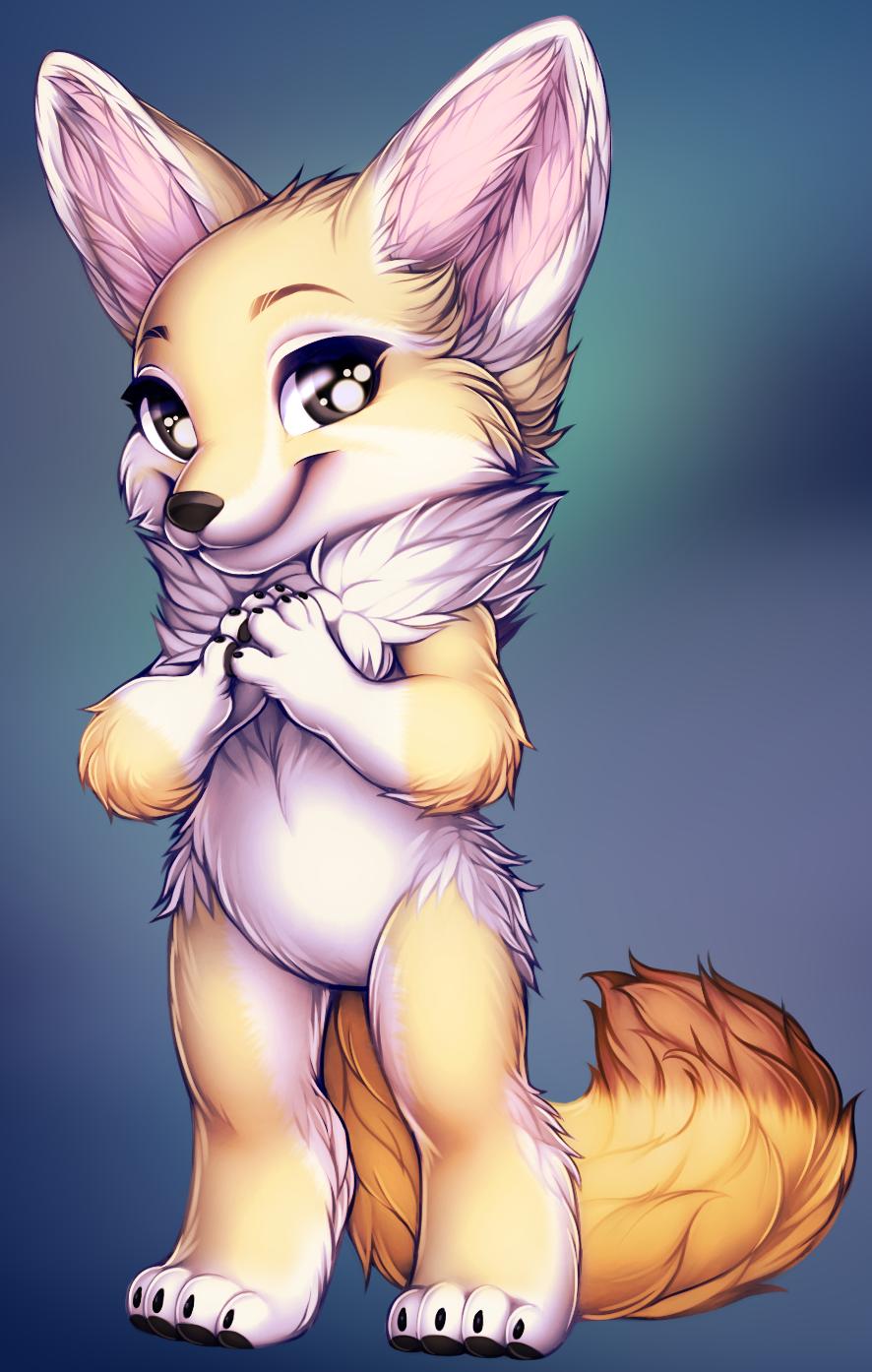 Fox fennec  by WibbleyWobbleys
