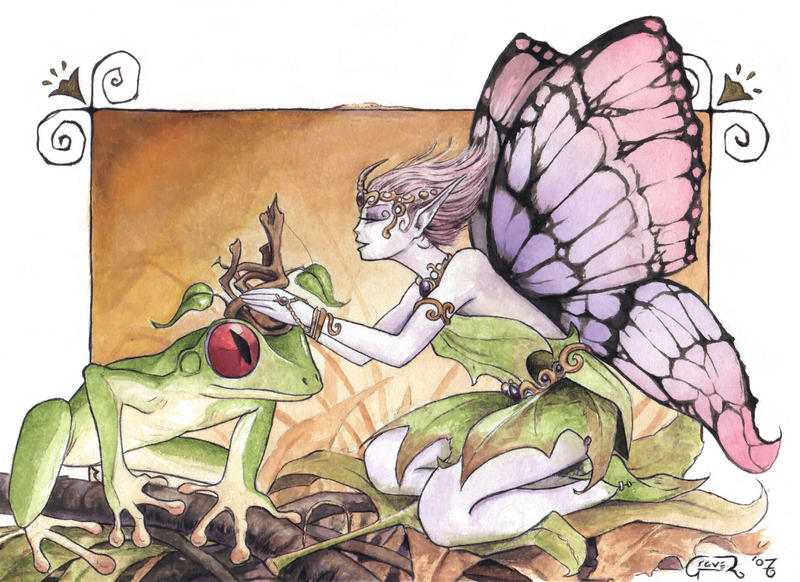 Histoire en images Crowning_of_the_Frog_Prince_by_graver13